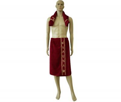 Комплект для бани и сауны Тёмно-красный