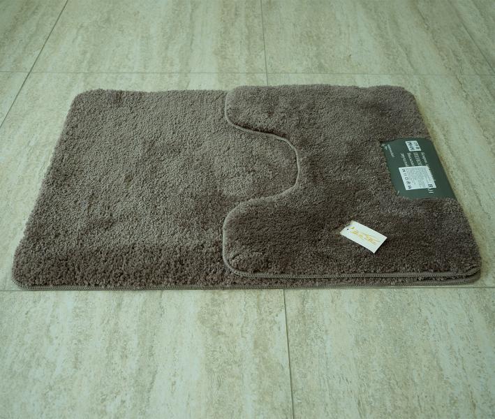 Набор ковриков для ванной (50x80+45x50) Ворс Коричневый