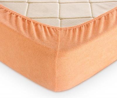 Простынь на резинке Махровая Оранжевый