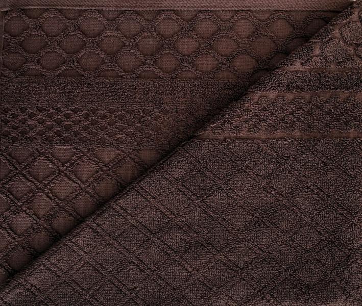Полотенце Трафарет жаккард Тёмно-коричневый