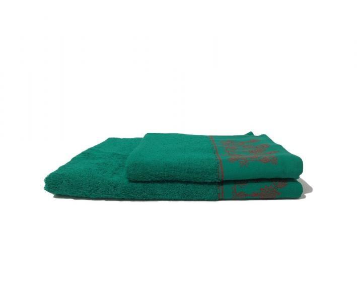 Полотенце махровое Merry Cristmas Зеленый
