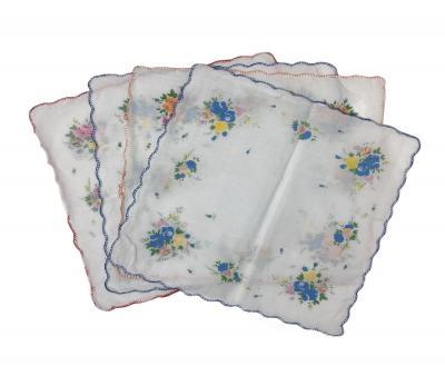 Платок женский цветочки 10 шт в упаковке