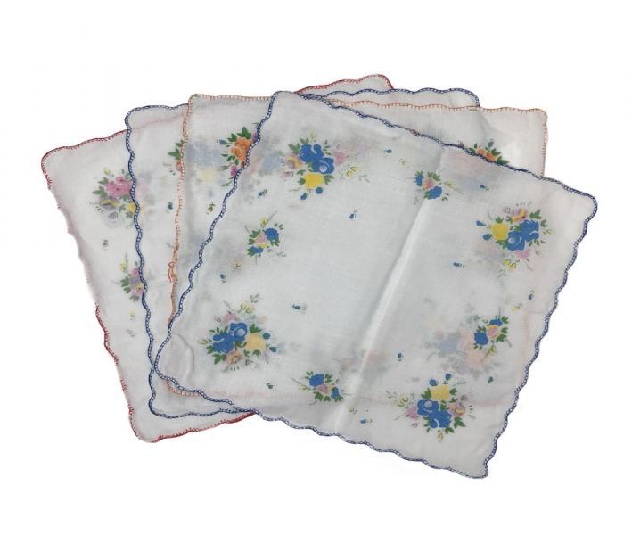Платок женский цветочки (28x28) 10 шт в упаковке
