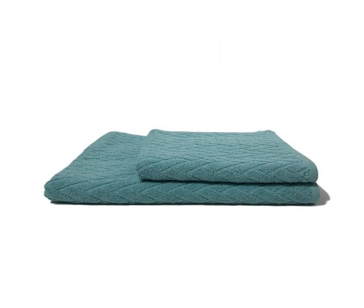 Полотенце махровое Косичка Небесно-голубой