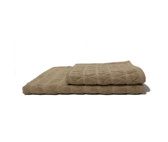 Полотенце махровое Капля Бежевый