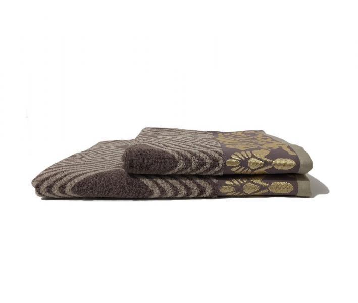 Полотенце махровое Пестроткань Какао-серый