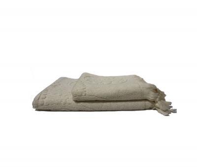 Полотенце махровое Узелочки Кремовый