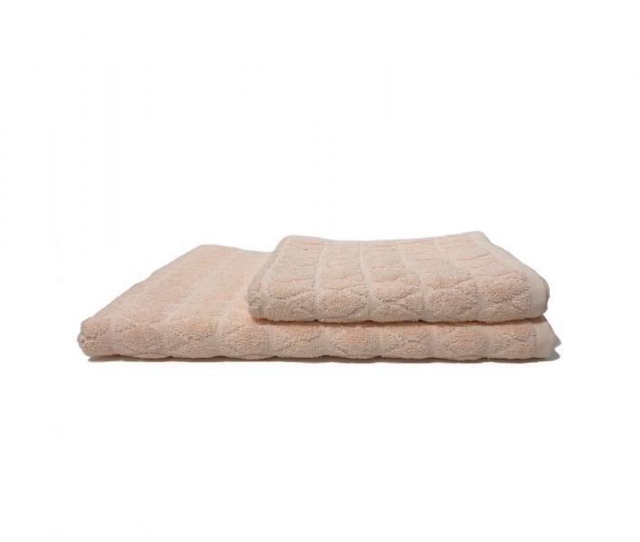 Полотенце махровое Капля Светло-розовый