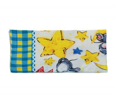 Полотенце кухонное вафельное (50x70) Звёзды
