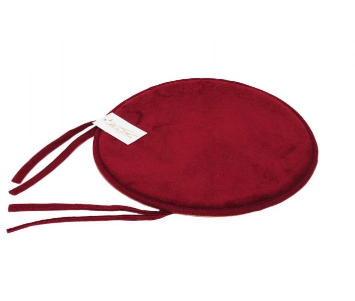 Подушка круг с пеной на стул Красный