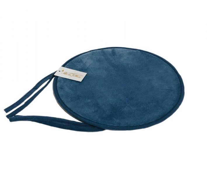 Подушка круг с пеной на стул Синий