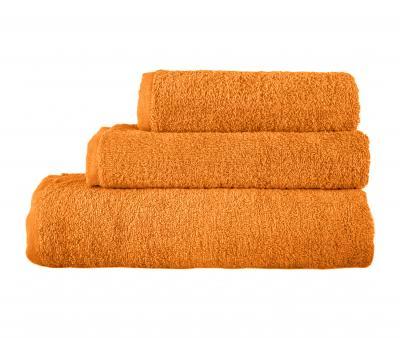 Полотенце махровое без бордюра 1000 Оранжевый