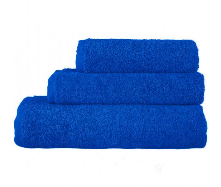 Полотенце махровое без бордюра 1000 Синий