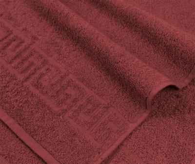 Полотенце Ашхабад с бордюром Бордовый