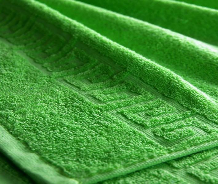 Полотенце Ашхабад с бордюром Ярко-зеленый