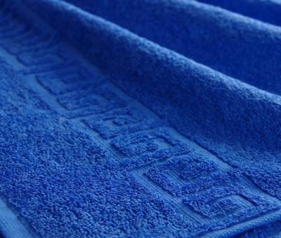 Полотенце Ашхабад с бордюром Тёмно-синий