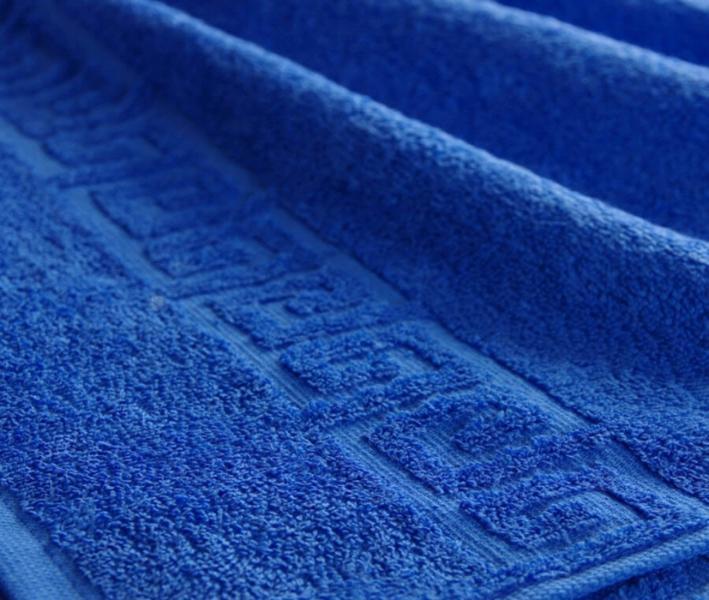Полотенце Ашхабад с бордюром Синий