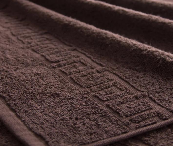 Полотенце Ашхабад с бордюром Тёмно-коричневый