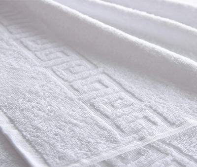 Полотенце Ашхабад с бордюром Белый 430 гр
