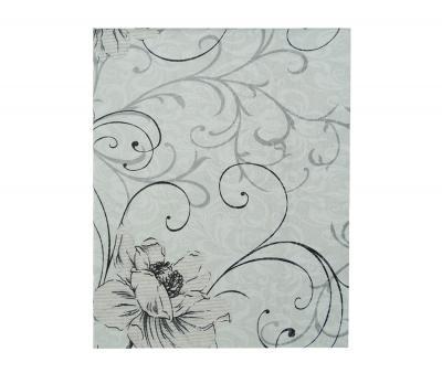 Простынь Поплин 1,5 спальная Серые цветы