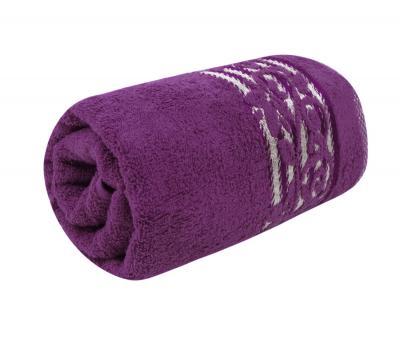 Полотенце махровое Турция 480 гр Дорук Узоры Фиолетовый