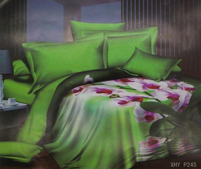 Комплект постельного белья шёлк иск. Принт XHY P245