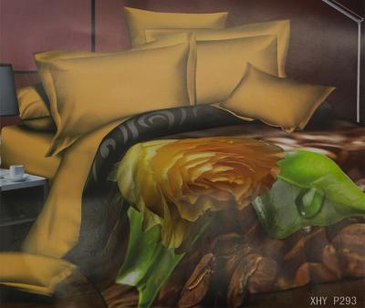 Комплект постельного белья шёлк иск. Принт XHY P293