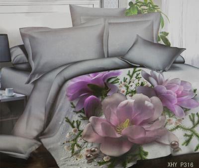 Комплект постельного белья шёлк иск. Принт XHY P316