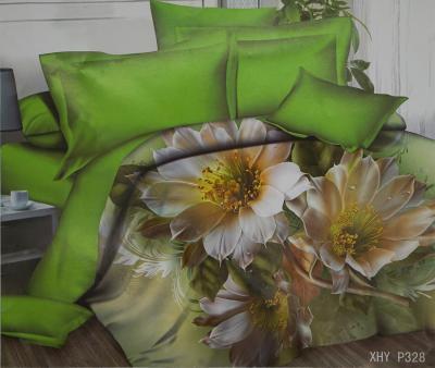 Комплект постельного белья шёлк иск. Принт XHY P328