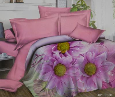 Комплект постельного белья шёлк иск. Принт XHY P330