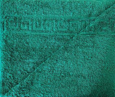 Полотенце Ашхабад с бордюром Изумрудный