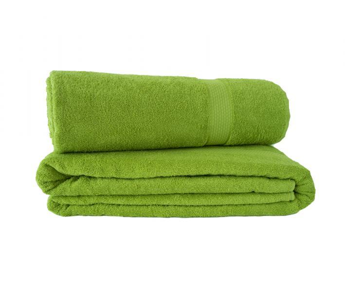 Простынь махровая 1016 Разноцвет Зелёный