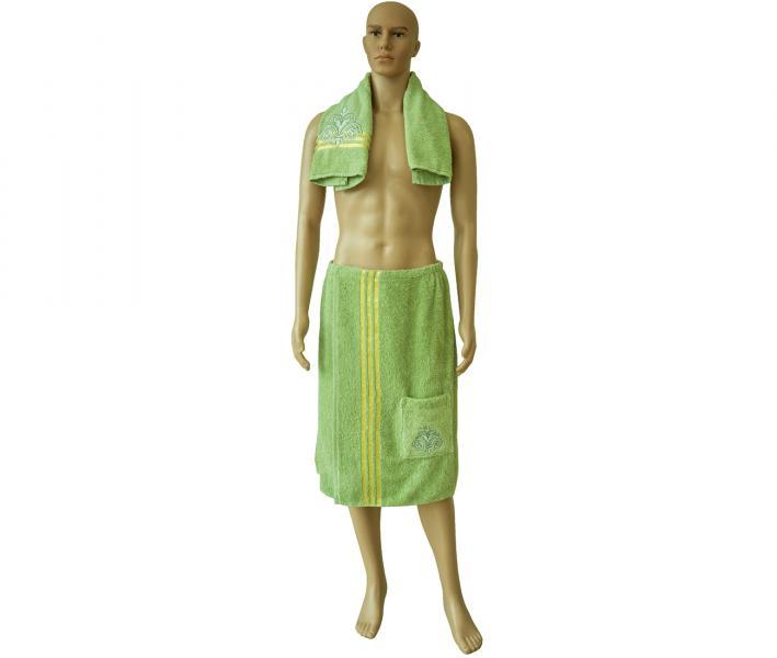 Набор для бани и сауны man Зелёный