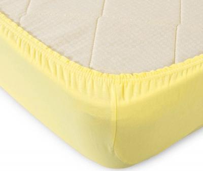 Простынь на резинке Трикотажная Желтый