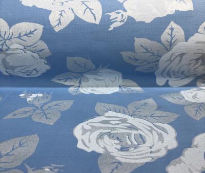 Голубая роза с серебром
